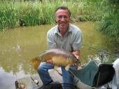 Fred Tysoe caught this lovely fish using a float, a size 12 hook on a 10lb line with luncheon meat fishing the margins of peg 19 of the Carp Lake.  It was one of 8 he caught in a bag of 35-40lb.