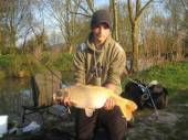 This is Adam Ravn with a lovely ghost carp weighing in at around 10lb from our Carp Lake.  Adam was here camping with his Dad.