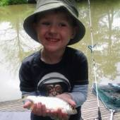 This is four year old Ashton Davies who brought his Dad camping and fishing.  They had a great time.