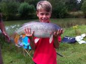 Here's Billy Pring with another super common carp from Rushcombe caught on paste.