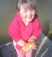 Jason Ashley sent us these super photos of his daughters Kimberley (8.5) and Caitlin (5.5) on their first ever fishing trip.  They caught using maggots in the margins of Rushcombe Lake on Easter Sunday afternoon.  This is Caitlin.