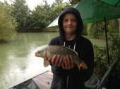 Charlie Chapple with a nice common carp.