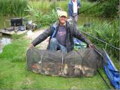 This is Clive Hadley from Henley in Arden with just part of his magnificent record-breaking 305lb of fish from the North Pool in July 2011!