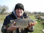 Russell Oliver, retired builder from Bristol, caught a beautiful 9lb 3oz common on his favourite peg 16 of the North Pool.