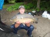 This is Danny Clayton with a lovely 12 pounder from the Carp Lake.