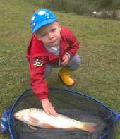Finley Gore fished with his Dad, Jay.