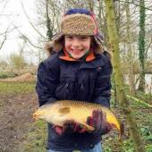 Here's another shot of Finn with the same lovely fish.