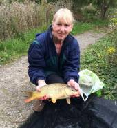 Gwen Barnard enjoyed her fishing on holiday with us in the Six House