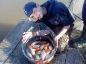 James Benoy from Dunball, near Bridgwater, had a lovely 11lb of carp and goldfish from the Rushcombe Lake: