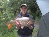 Jay Gore with a lovely 14lb common caught from peg 1 of the Carp Lake.