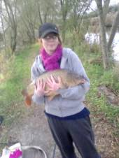 This is Jemma Mullins who had a great day on the Carp Lake.  What a super fish.