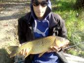 This is John Moss, who fished alongside Jemma Mullins, with a nice fish from the Carp Lake.