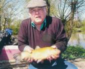 Well done to Bullock Farm regular, Les Headington, who, whilst targeting the specimen carp in the Carp Lake with spam, a size 6 hook and 10lb line; was surprised to catch his personal best tench of 4.5lb.