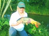 Louis girlfriend caught her first ever carp landing a lovely 6lb common!