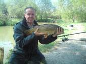 This Mark Procter with a lovely 10.5lb common from the Carp Lake - part of a 93lb bag, see next photo