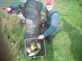 Here's Mark with his 93lb bag.