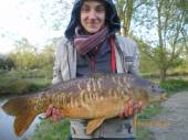 This is Matthew Haythornthwaite from Lancashire with a lovely 18lb mirror carp from peg 5 of the Match Lake.