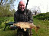 Max Pickering with a nice 10lb common caught on soft halibut pellet from the Carp Lake.
