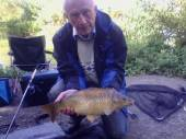 This is Mike Jones with a nice common from peg 21 of the Carp Lake - caught on sweetcorn.