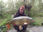 Bullocks regular Mitch Davenport caught this lovely 13lb common on a recent trip to the Carp Lake in really bad weather conditions.  Together with Ricky Seery they managed a total of 13 fish between them on pegs 20 and 21. All were caught on double 8mm halibut pellet with a pva bag of pellets.