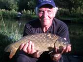 Nick Wright, a self-confessed 'grumpy old man' wasn't quite so grumpy once he'd caught this lovely common.  Nick brought his family camping and had a great few days with us.