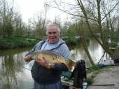 Russell Oliver with a lovely 16lber from peg 13 of the Carp Lake which made up part of a 100lb+ bag - his personal best.