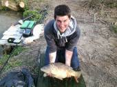 Here's Sam with another lovely carp.