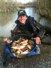 This is Shawn Kittridge with a lovely bag of crucians from the Carp Lake.