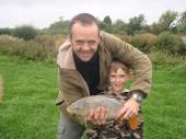 This is Toby & Adrian Stevens with a lovely common carp from Rushcombe caught on only their second ever fishing trip.